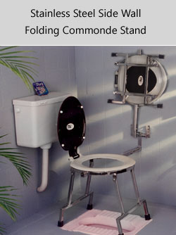 Comfortable Folding Commode Stands And Stools